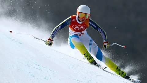<p>               FILE - In this Wednesday, Feb. 21, 2018 file photo, Sweden's Lisa Hoernblad competes in the women's downhill at the 2018 Winter Olympics in Jeongseon, South Korea. Three Swedish skiers competing in this weekend's women's World Cup races helped save a course volunteer's life before their first downhill training session. Lisa Hoernblad gave the stricken man first-aid after he suffered what appeared to be a heart attack and followed up by finishing second in her run on Thursday, Jan. 24, 2019. (AP Photo/Alessandro Trovati, file)             </p>