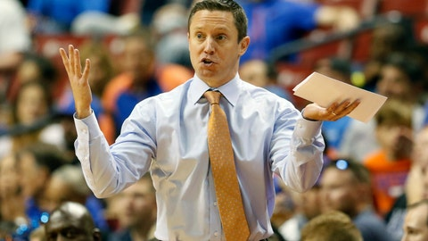 <p>               FILE - In this Dec. 22, 2018, file photo, Florida head coach Mike White reacts in the first half of play against Florida Gulf Coast in an NCAA college basketball game, part of the Orange Bowl Classic tournament, in Sunrise, Fla. Florida coach Mike White has three guys he can count on to bring energy and effort every day. Problem is two of them are freshmen. Although that might bode well for the future of the program, it's not how the Gators were expected to play in White's fourth season. So the coach is scratching his head and searching for answers as Florida (8-5, 0-1 Southeastern Conference) prepares to play at Arkansas (10-3, 1-0) on Wednesday night, Jan. 9, 2019. (AP Photo/Joe Skipper, File)             </p>