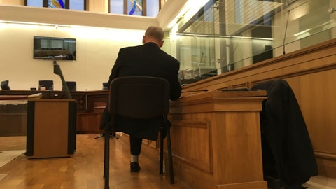 <p>               In this photo taken on Tuesday, Jan. 22, 2019, former swimming champion and ex-manager of one of the country's most successful ice hockey clubs Vincent Leroyer sits on a chair during a break in proceedings during his trial for child rape and sexual molestation at the Bordeaux courthouse, southwestern France. A French court has found Leroyer guilty of child rape and sexual abuse and sentenced him to 12 years imprisonment. (AP Photo/John Leicester).             </p>