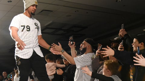 <p>               Chicago White Sox's Jose Abree greets fans during the baseball team's convention Friday, Jan. 25, 2019, in Chicago. (AP Photo/David Banks)             </p>