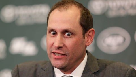 <p>               New York Jets head coach Adam Gase speaks during a news conference in Florham Park, N.J., Monday, Jan. 14, 2019. The Jets coach was formally introduced at the team's facility, and social media was quickly abuzz. No, not with his vision for the team or where he sees quarterback Sam Darnold's progress going. It was all about Gase's eyes, which were intensely focused at times throughout the nearly 20-minute news conference. (AP Photo/Seth Wenig)             </p>