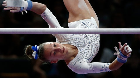 <p>               FILE - In this Aug. 19, 2018, file photo, Grace McCallum competes on the uneven bars at the U.S. Gymnastics Championships in Boston. McCallum is getting a showcase at the American Cup. The youngest member of the U.S. women's gymnastics team that won a gold medal at the 2018 world championships headlines the field for the annual exhibition, which will be held March 2 at the Greensboro Coliseum in North Carolina.(AP Photo/Elise Amendola, File)             </p>