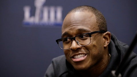 <p>               New England Patriots' Matthew Slater speaks with members of the media during a news conference Tuesday, Jan. 29, 2019, ahead of the NFL Super Bowl 53 football game against Los Angeles Rams in Atlanta. (AP Photo/Matt Rourke)             </p>