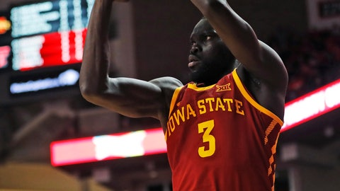 <p>               Iowa State's Marial Shayok shoots a 3-pointer during the first half of the team's NCAA college basketball game against Texas Tech, Wednesday, Jan. 16, 2019, in Lubbock, Texas. (AP Photo/Brad Tollefson)             </p>
