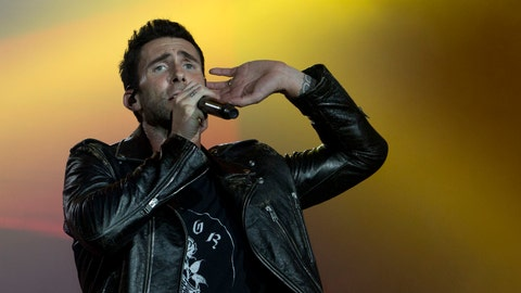 <p>               FILE - In this Sept. 16, 2017, file photo, Adam Levine of Maroon 5 performs at the Rock in Rio music festival in Rio de Janeiro, Brazil. Big Boi and Travis Scott will join Maroon 5 in this year's Super Bowl halftime show. Maroon 5 had been the widely reported halftime show act since September, but the NFL officially announced the band as its headliner Sunday, Jan. 13, 2019. (AP Photo/Silvia Izquierdo, File)             </p>