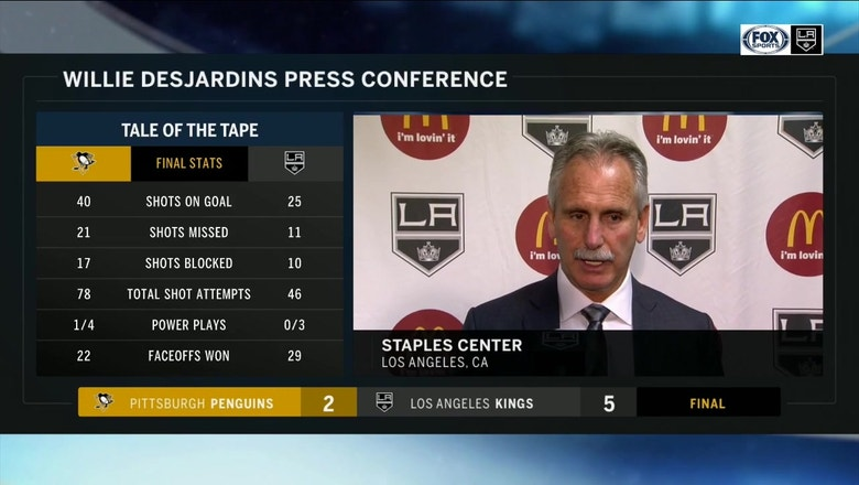 Willie Desjardins excited about complete team effort from LA Kings