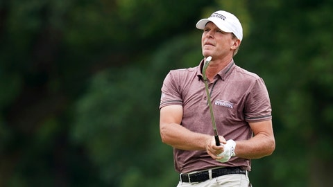 <p>               FILE - In this July 15, 2018, file photo, Steve Stricker hits on the ninth fairway during the final round of the John Deere Classic golf tournament, in Silvis, Ill.  Stricker, who is about to turn 52, is not ready for a fulltime schedule on the PGA Tour Champions.(AP Photo/Charlie Neibergall, File)             </p>