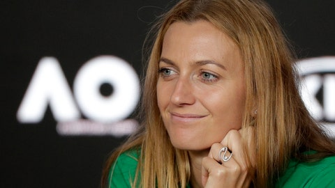 <p>               Petra Kvitova of the Czech Republic answers questions at a press conference at the Australian Open tennis championships in Melbourne, Australia, Friday, Jan. 25, 2019. Kvitova will play Japan's Naomi Osaka in Saturday's women's final. (AP Photo/Kin Cheung)             </p>