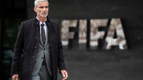 <p>               Former Australian national team captain Craig Foster walks after a briefing on the illegal detention of refugee football player Hakeem al-Araibi at the FIFA headquarters in Zurich, Switzerland, on Monday, Jan. 28, 2019. Foster is carrying some 50'000 petition signatures and supporting documents that demand his immediate release. Al-Araibi has been detained in a Bangkok detention centre for two months, facing imminent extradition to Bahrain. (Ennio Leanza/Keystone via AP)             </p>