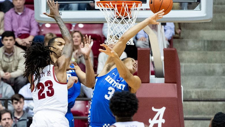 Mack, Alabama upset No. 13 Kentucky 77-75 in SEC opener