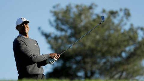 <p>               Tiger Woods watches his tee shot on the eighth hole during the pro-am round of the Farmer's Insurance Open golf tournament on the North Course at Torrey Pines Golf Course on Wednesday, Jan. 23, 2019, in San Diego, Calif. (AP Photo/Chris Carlson)             </p>