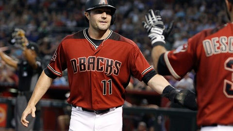 <p>               FILE - In this  Sunday, July 22, 2018 file photo, Arizona Diamondbacks' A.J. Pollock (11) is congratulated by teammate Daniel Descalso after scoring a run against the Colorado Rockies on a Steven Souza double during the first inning of a baseball game in Phoenix. A person familiar with the negotiations says free-agent outfielder AJ Pollock and the Los Angeles Dodgers have agreed to a $55 million, four-year contract. The person spoke Thursday, Jan. 24, 2019 on condition of anonymity because the agreement has not been announced (AP Photo/Ralph Freso, File)             </p>
