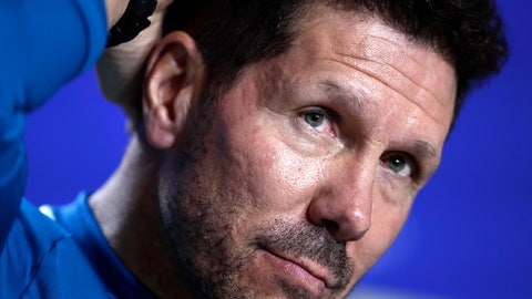 <p>               FILE - In this Tuesday, Nov. 27, 2018 file photo, Atletico coach Diego Simeone attends a press conference at Wanda Metropolitano stadium in Madrid, Spain. Atletico starts the year under the highest expectations since coach Diego Simeone transformed it from an chronic underachiever into a perennial title contender seven years ago. (AP Photo/Manu Fernandez, File)             </p>