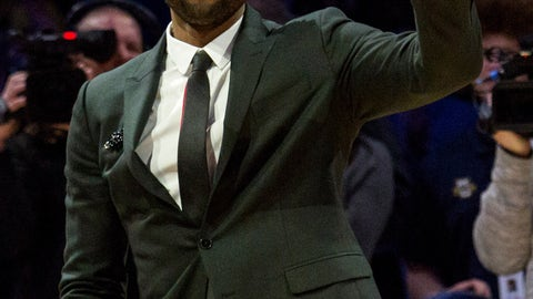 <p>               Miami Heat player and Marquette alumni Dwyane Wade is honored with Dwyane Wade Day during half time as Marquette takes on Providence for an NCAA college basketball game Sunday, Jan. 20, 2019, in Milwaukee. (AP Photo/Darren Hauck)             </p>