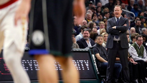 <p>               Milwaukee Bucks coach Mike Budenholzer watches from the sideline during the first half of an NBA basketball game against the Atlanta Hawks on Friday, Jan. 4, 2019, in Milwaukee. (AP Photo/Aaron Gash)             </p>