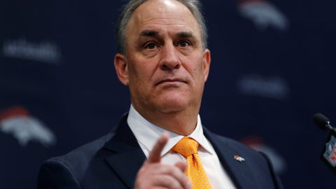 <p>               FILE - In this Thursday, Jan. 10, 2019 file photo, Denver Broncos new head coach Vic Fangio speaks during a news conference at the team's headquarters in Englewood, Colo. The Denver Broncos have plucked another assistant coach off the Chicago Bears staff and they might not be done. New head coach Vic Fangio hired outside linebackers coach Brandon Staley to a similar role in Denver. And Fangio is interviewing Ed Donatell for his defensive coordinator job in Denver after Donatell spent four season as Bears defensive backs coach while Fangio was Chicago's defensive coordinator.(AP Photo/David Zalubowski, File)             </p>