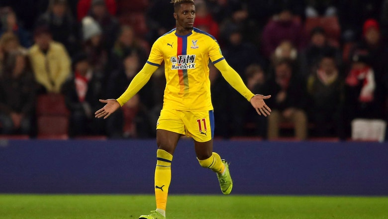 Zaha scores, sent off in Palace's 1-1 draw at Southampton