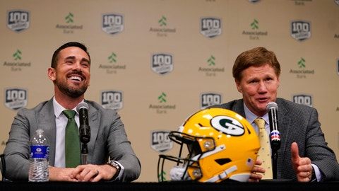 <p>               Green Bay Packers President and CEO Mark Murphy introduces head coach Matt LaFleur at a news conference Wednesday, Jan. 9, 2019, in Green Bay, Wis. (AP Photo/Morry Gash)             </p>
