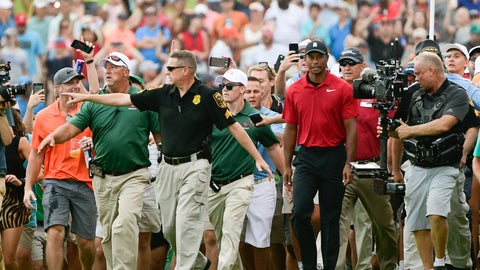<p>               File- This Sept. 23, 2018, file photo shows Tiger Woods making his way down the 18th fairway during the final round of the Tour Championship golf tournament in Atlanta. Woods said Tuesday, Jan. 22, 2019, he doesn't think he can ever feel that kind of energy again.  (AP Photo/John Amis, File)             </p>