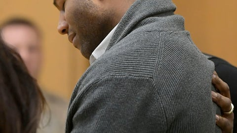 <p>               Torrey Green reacts as a jury finds him guilty of eight charges including five counts of rape and a charge sexual battery in connection to reports from six women accusing him of sexual assault while he was a football player at Utah State University, Friday, Jan.18, 2019 in Brigham City, Utah. (Eli Lucero/Herald Journal via AP, Pool)             </p>