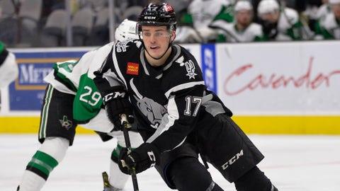 San Antonio Rampage forward Sammy Blais from 2018-19 AHL season.