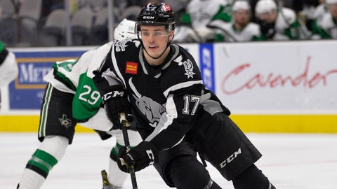 San Antonio Rampage forward Sammy Blais from 2018-19 AHL season.