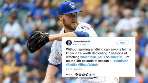 Jimmy Nelson, Brewers pitcher