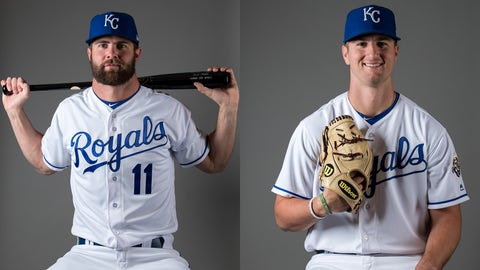 Former Royals first-round draft picks Bubba Starling (left) and Foster Griffin.