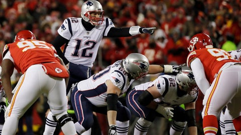 Chiefs fan fined $500 for flashing laser at Brady