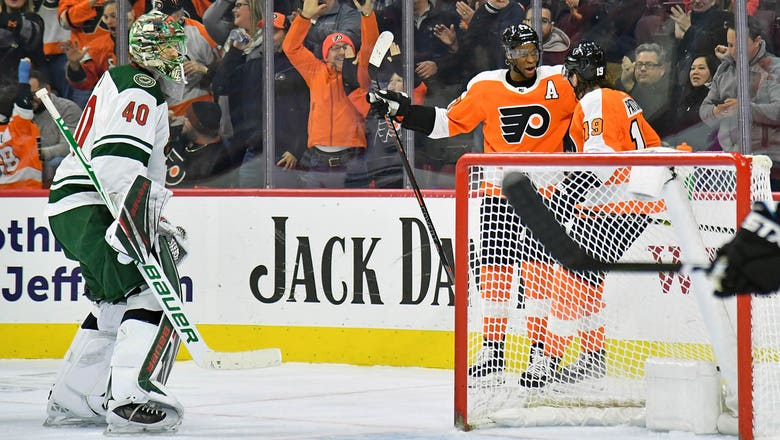 Early offense not enough in Wild's 7-4 loss to Flyers