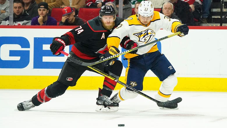 Preds unable to slow down Sebastian Aho, Canes
