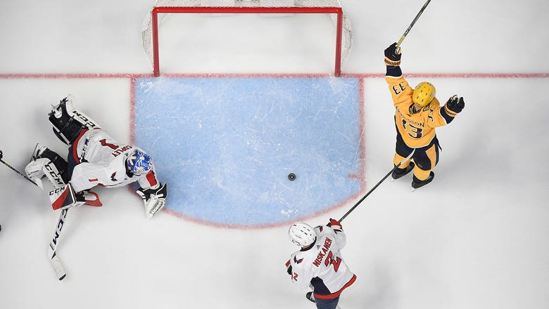 Preds net 7 goals in rout of Capitals