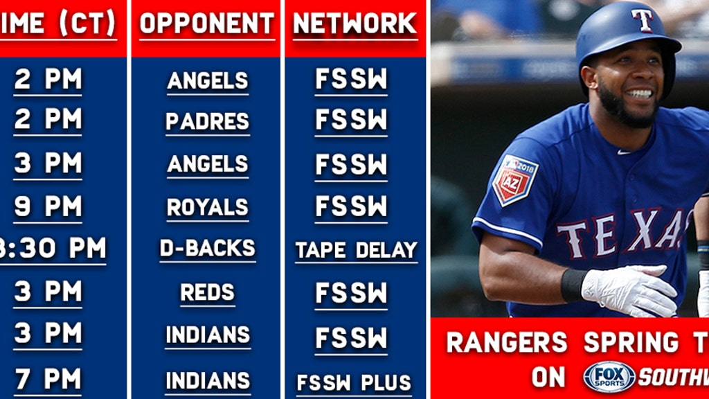 FSSW's 2019 Texas Rangers Spring Training TV Schedule | FOX