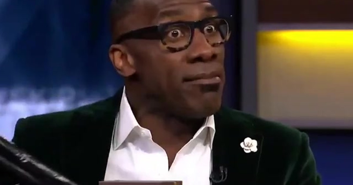 Shannon Sharpe brought the Hennessy and some farewell luggage for Skip  Bayless  Cowboys  c8b6b435a