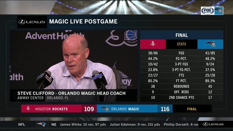 Steve Clifford recaps tonight's team effort in comeback win over Rockets