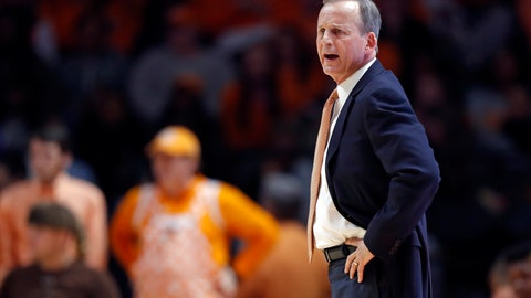 <p>               Tennessee head coach Rick Barnes looks on during the first half of an NCAA college basketball game against Missouri Tuesday, Feb. 5, 2019, in Knoxville, Tenn. (AP photo/Wade Payne)             </p>