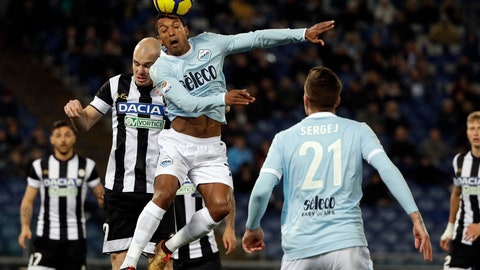 <p>               FILE - In this Jan. 24, 2018, file photo, Lazio's Nani, top, and Udinese's Bram Nuytinck go for the ball during a soccer match in Rome, Italy. Former Manchester United winger Nani has become the latest 30-plus star to join Major League Soccer after a career in Europe, agreeing to a three-year contract with Orlando City. The team said Monday, Feb. 18, 2019, that Nani was given a free transfer from Portugal's Sporting Lisbon and will be a designated player who counts only partially against the team's salary cap. (AP Photo/Gregorio Borgia, File)             </p>