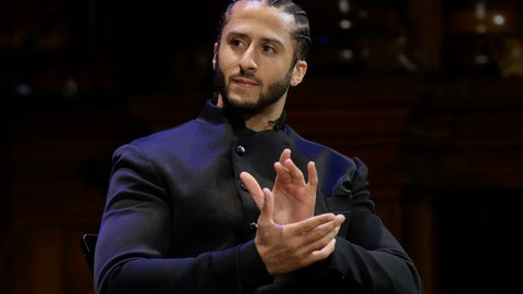 <p>               FILE - In this Oct. 11, 2018, file photo, former NFL football quarterback Colin Kaepernick applauds while seated on stage during W.E.B. Du Bois Medal ceremonies at Harvard University in Cambridge, Mass. Republican concerns that the former NFL quarterback is too controversial to honor as a black leader doomed a resolution recognizing Black History Month in the state Assembly, Tuesday, Feb. 12, 2019. The Legislature's black caucus had proposed a resolution honoring a number of black leaders, including Kaepernick, but Assembly Republicans refused to take it up. (AP Photo/Steven Senne, File)             </p>
