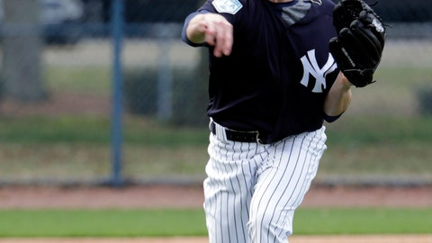 <p>               New York Yankees' Danny Farquhar performs drills at the New York Yankees spring training baseball facility, Saturday, Feb. 16, 2019, in Tampa, Fla. (AP Photo/Lynne Sladky)             </p>