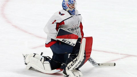 <p>               FILE - In this Nov. 13, 2018 file photo Washington Capitals goalie Pheonix Copley plays against the Minnesota Wild in an NHL hockey game in St. Paul, Minn. The Capitals have signed Copley to a $3.3 million, three-year extension. Copley will count $1.1 million against the salary cap in each of the next three seasons. General manager Brian MacLellan announced the contract Monday, Feb. 4, 2019 while the team was on the ice for practice. (AP Photo/Jim Mone, file)             </p>