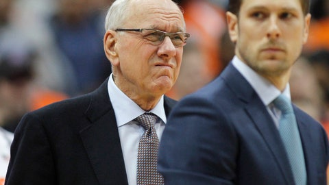 <p>               Syracuse coach Jim Boeheim waits for the team's NCAA college basketball game against Duke in Syracuse, N.Y., Saturday, Feb. 23, 2019. Three days after he accidentally hit and killed a pedestrian, Boeheim returned to the bench to loud applause prior to the Orange's game against top-ranked Duke. (AP Photo/Nick Lisi)             </p>