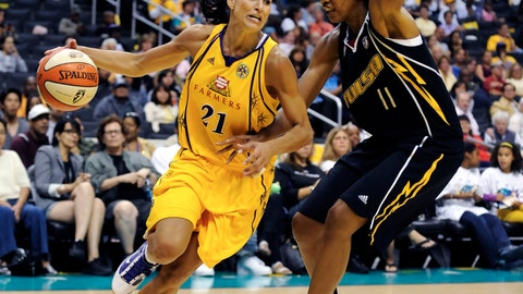 <p>               File-This Aug. 6, 2010, file photo shows Los Angeles Sparks guard Ticha Penicheiro (21) driving on Tulsa Shock center Chante Black (11) in the first half of a basketball game, in Los Angeles. Penicheiro, Ruth Riley and Valerie Still are headed to the Women's Basketball Hall of Fame. The trio of former college stars headline a seven-person class that was announced Monday, Feb. 4, 2019. Joining them are longtime women's basketball contributors Beth Bass (CEO of the women's basketball coaches association), Nora Lynn Finch (inaugural chair of the NCAA selection committee) and Joan Cronan (former Tennessee athletic director). (AP Photo/Gus Ruelas, File)             </p>