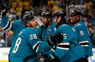Pavelski's 31st goal helps Sharks top Canucks 3-2