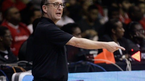 """<p>               FILE - In this Sept. 17, 2018, file photo, U.S. basketball coach Jeff Van Gundy speaks from the sidelines of the team's FIBA Basketball World Cup 2019 qualifier game against Panama in Panama City. Van Gundy has an idea on how to fix the NBA All-Star Game. His plan: Eliminate it. Van Gundy, the former NBA coach and now longtime television commentator for ABC and ESPN, said what he's seeing now from the game is embarrassing and """"a bastardization of the game that is beautiful to watch."""" The teams picked by captains LeBron James and Giannis Antetokounmpo combined to attempt a record 167 3-pointers in Sunday night's game--and 96 of the 134 field goals in the game came off either 3s or dunks. (AP Photo/Arnulfo Franco, File)             </p>"""