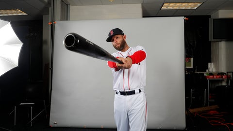 <p>               Boston Red Sox second baseman Dustin Pedroia sets up for a portrait during media day at their spring training baseball facility in Ft. Myers, Fla., Tuesday, Feb. 19, 2019. (AP Photo/Gerald Herbert)             </p>