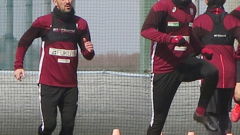 <p>               In this Jan. 21, 2019, photo, Vissel Kobe's Andres Iniesta, right, and David Villa, left, warm up during their team's training in Kobe, western Japan. Iniesta is hoping the addition of former Barcelona teammate Villa will lead to bigger and better things for his Japanese soccer team this season. (Kyodo News via AP)             </p>