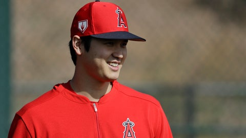 <p>               Los Angeles Angels' Shohei Ohtani, of Japan, walks on the practice field at their spring baseball training facility in Tempe, Ariz., Friday, Feb. 15, 2019. (AP Photo/Chris Carlson)             </p>