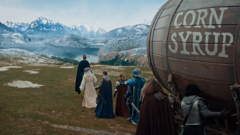 <p>               This undated image provided by Anheuser-Busch shows a scene from the company's Bud Light 2019 Super Bowl NFL football spot. (Anheuser-Busch via AP)             </p>
