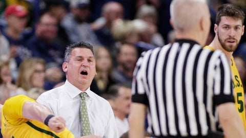<p>               San Francisco head coach Kyle Smith, left, speaks with an official during the first half of an NCAA college basketball game against Gonzaga in Spokane, Wash., Thursday, Feb. 7, 2019. (AP Photo/Young Kwak)             </p>