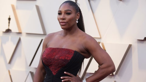 <p>               Serena Williams arrives at the Oscars on Sunday, Feb. 24, 2019, at the Dolby Theatre in Los Angeles. (Photo by Richard Shotwell/Invision/AP)             </p>